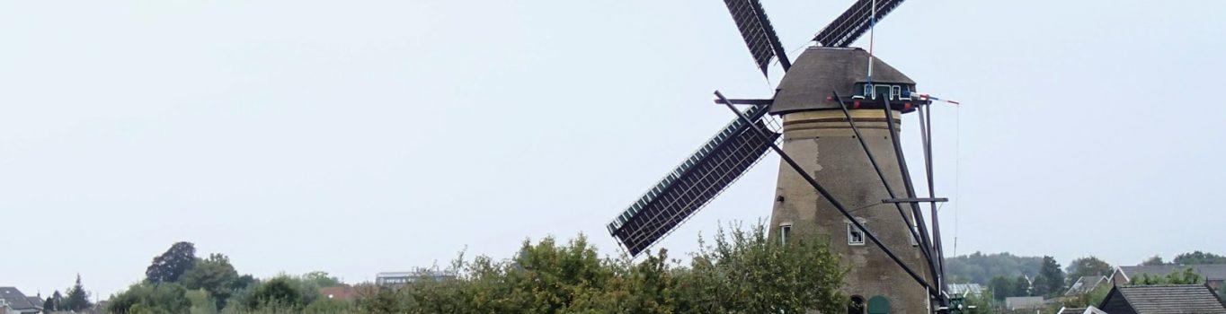 Holenderskie wiatraki z bliska